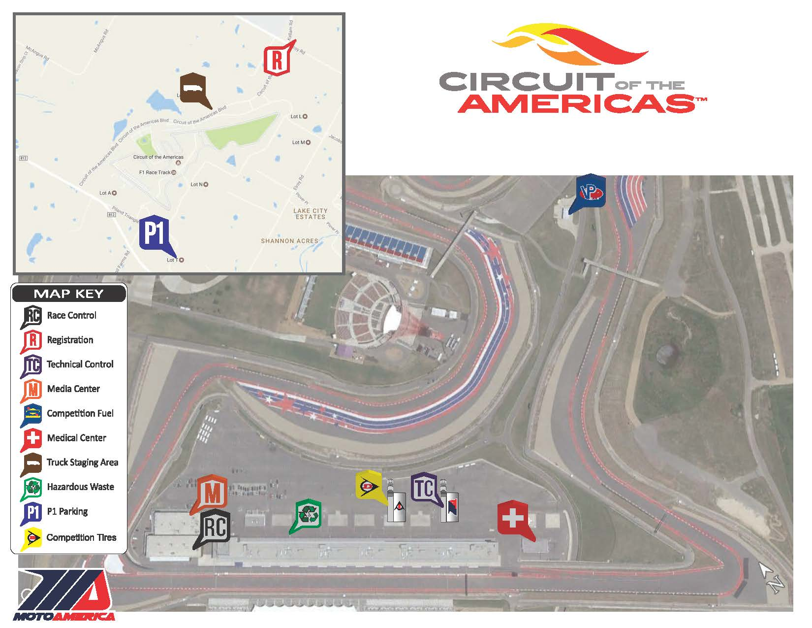 2019 COTA | MotoAmerica Registration Circuit Of The Americas Map on