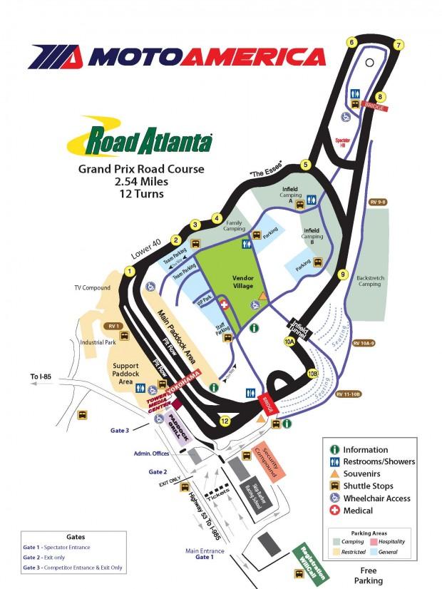 2018 ROAD ATLANTA | MotoAmerica Registration Map Of America Atlanta on map of america newark, map of america with washington dc, map of america carolina, map of america augusta,
